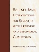 Evidence Based Interventions for Students with Learning and Behavioral Challenges PDF