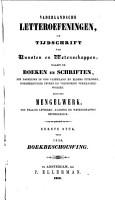 Vaderlandsche letter oefeningen of tijdschrift van kunsten en wetenschappen PDF