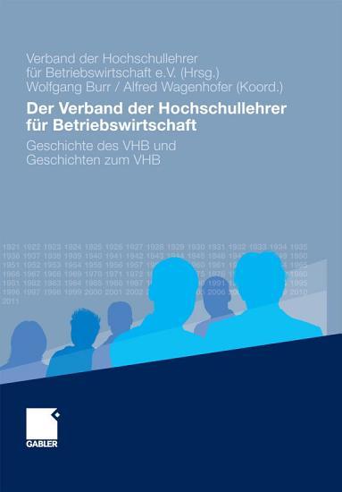 Der Verband der Hochschullehrer f  r Betriebswirtschaft PDF