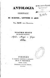 Antologia: giornale di scienze, lettere e arti