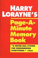 Harry Lorayne s Page a minute Memory Book PDF