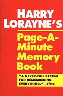 Harry Lorayne s Page a minute Memory Book Book