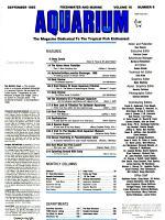 Freshwater and Marine Aquarium PDF