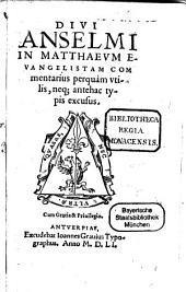 Commentarius in Matthaei Evangelium