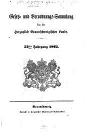 Gesetz- und Verordnungssammlung für die Herzoglich-Braunschweigischen Lande: Band 52