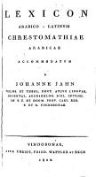 Lexicon arabico latinum PDF