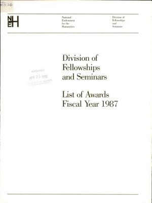 List of Awards PDF