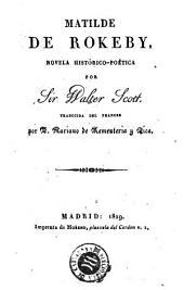 Matilde de Rokeby: novela histórico-poética