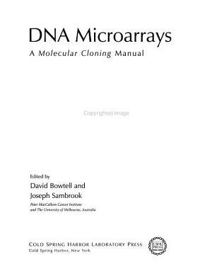 DNA Microarrays PDF