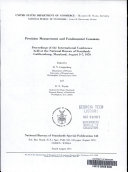 Precision Measurement and Fundamental Constants; Proceedings