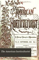 The American Horticulturist