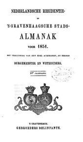 Nederlandsche residentie- en 's Gravenhaagsche stads-almanak voor ....: Volume 6