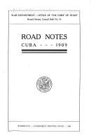 Road Notes  Cuba  1909 PDF