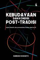 Kebudayaan dan Kondisi Post Tradisi PDF
