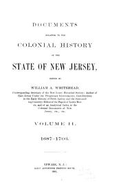Documents Relating to the Colonial History of the State of New Jersey, [1631-1776]: 1687-1703