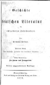 Literaturgeschichte des achtzehnten Jahrhunderts: Band 1,Teil 3 -Band 3,Teil 3