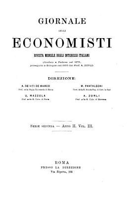 Giornale degli economisti organo dell Associazione per il progresso degli studi economici PDF