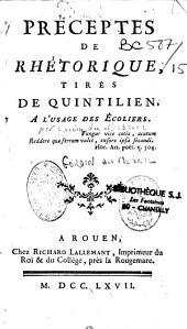 Préceptes de rhétorique, tirés de Quintilien par Gardin-Dumesnil