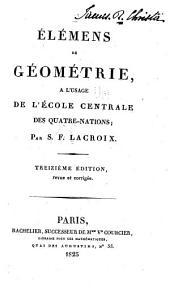 Élémens de géométrie: à l'usage de l'École centrale des quatre-nations