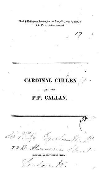 Cardinal Cullen and the P P  Callan PDF