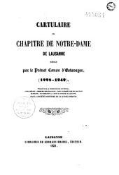 Cartulaire du chapitre de Notre-Dame de Lausanne: 1228 -1242