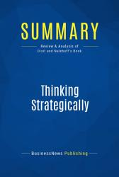 Summary  Thinking Strategically PDF