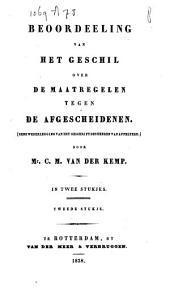 Beoordeeling van het geschil over de maatregelen tegen de Afgescheidenen: (eene wederlegging van het geschrift des heeren van Appeltere)