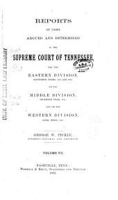 Reports of Cases Argued and Determined in the Supreme Court of Tennessee: Volume 91