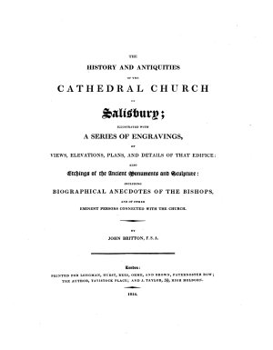 The History and Antiquities of the Cathedral Church of Salisbury PDF