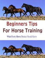 Beginners Tips for Horse Training  What Every Horse Trainer Should Know PDF
