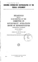 Consumer Information Responsibilities of the Federal Government PDF