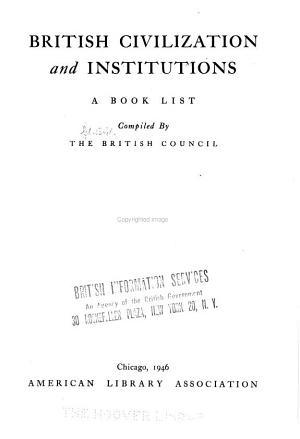British Civilization and Institutions