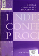 Index of Conference Proceedings PDF