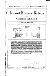 Internal Revenue Bulletin: Cumulative bulletin, Issue 1, Part 1