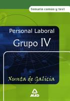 Personal Laboral de la Xunta de Galicia  Grupo Iv  Temario Comun Y Test Ebook PDF