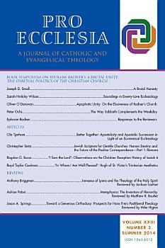 Pro Ecclesia Vol 23 N3 PDF