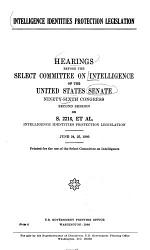 Hearings, Reports and Prints of the Senate Select Committee on Intelligence