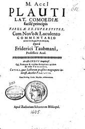 M. Acci Plauti lat. comoediae facile principis fabulae XX. supersites ; cum novo & luculento commentario doctorum virorum opera Friderici Taubmani