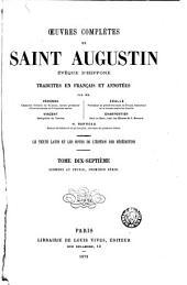 Œuvres complètes de Saint Augustin: Volume17