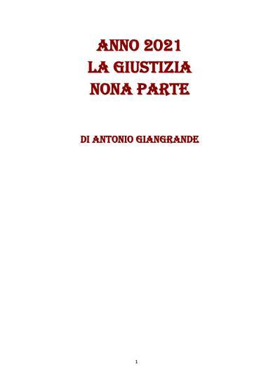 ANNO 2021 LA GIUSTIZIA NONA PARTE PDF