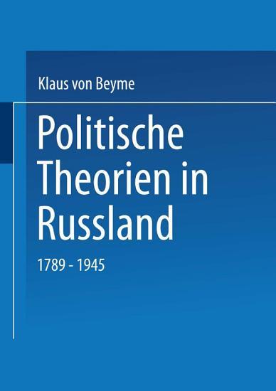 Politische Theorien in Russland PDF