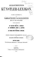Allgemeines K  nstler Lexicon PDF