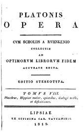 Platonis opera: Τόμος 8