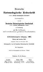 Deutsche Entomologische Zeitschrift