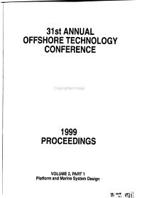 Proceedings   Offshore Technology Conference PDF