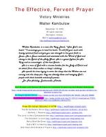 The Effective  Fervent Prayer PDF