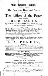 With     addenda  containing the statutes of 16  17  18   19 Geo  II  with all the modern cases of authority published since the year 1742  down to the present time PDF