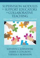 Supervision Modules to Support Educators in Collaborative Teaching PDF