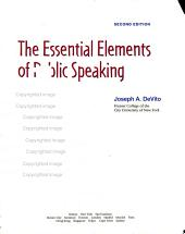 Essential Elements Of Public Speaking
