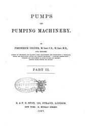 Pumps and Pumping Machinery: Part 2